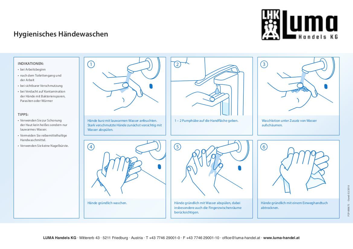Regelmäßiges Händewaschen reduziert das Risiko von Ansteckungen und Infekten!