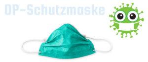 OP Schutzmaske nach EN 14683 - Ansteckungsschutz vor Viren Erkrankungen.