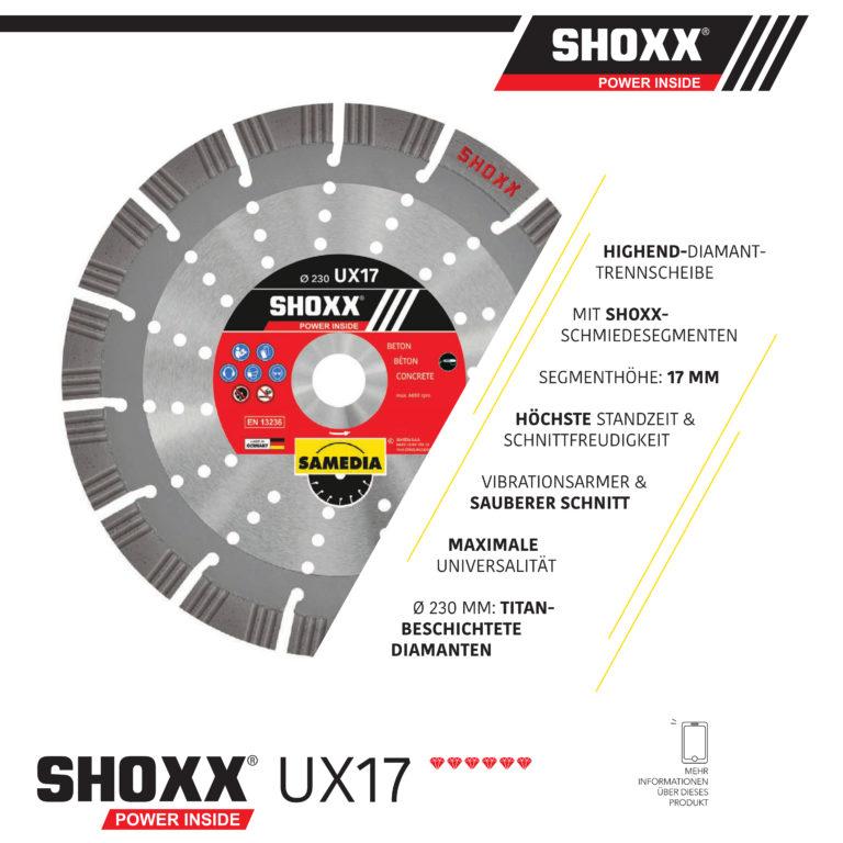 SAMEDIA Highend Diamanttrennscheibe für den Bau UX17 - Nass- und Trockenschnitt!