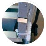 SAMEDIA FB650 Ziegelsäge - steckbare Wasserpumpe für werkzeuglosen Tausch.