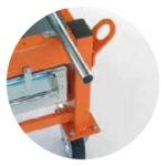 SAMEDIA FB650 Ziegelsäge - 4 Kranösen und 1 zentraler Kranhaken für einfachen und sicheren Transport