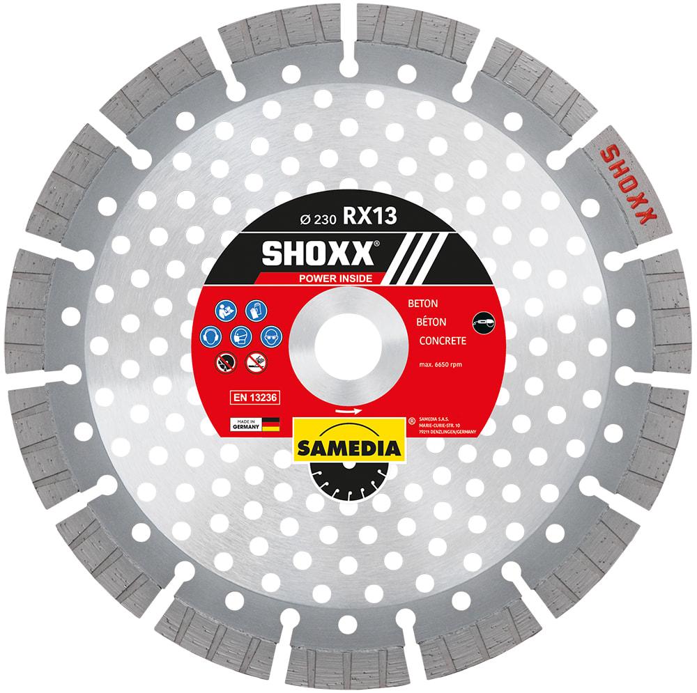 SAMEDIA Diamanttrennscheibe SHOXX RX13 die schnellste Scheibe für mehr Produktivität!